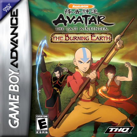 Avatar - The Last Airbender - The Burning Earth Nintendo Game Boy Advance cover artwork