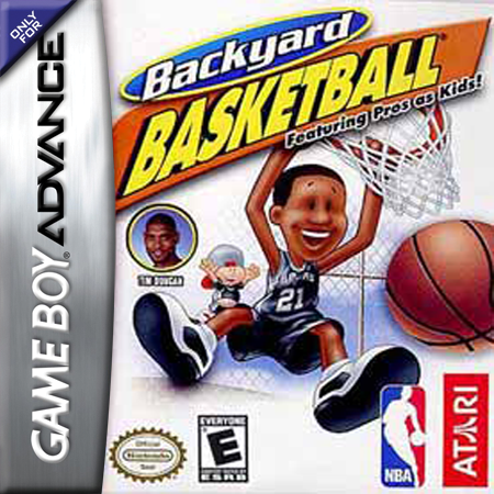 Superieur Backyard Basketball Nintendo Game Boy Advance Cover Artwork