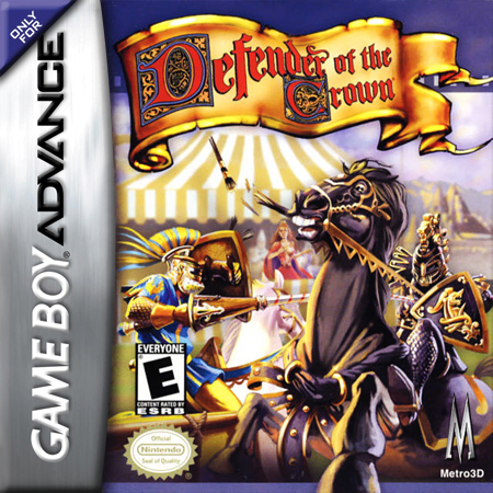 Defender of the Crown Nintendo Game Boy Advance cover artwork