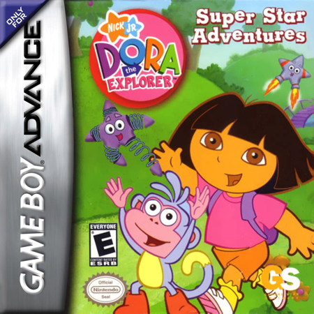Dora the Explorer - Super Star Adventures! Nintendo Game Boy Advance cover artwork