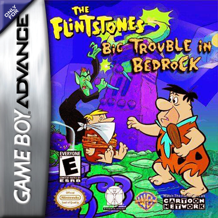 Flintstones, The - Big Trouble in Bedrock Nintendo Game Boy Advance cover artwork
