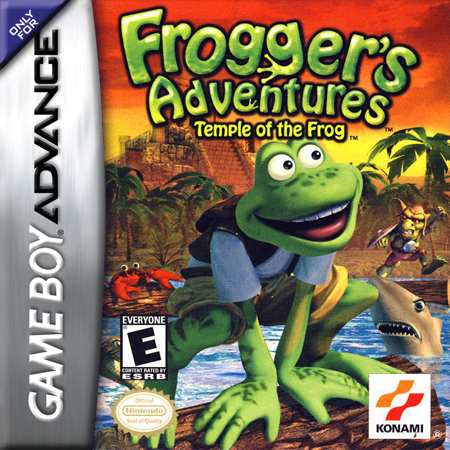 Frogger's Adventures - Temple of the Frog Nintendo Game Boy Advance cover artwork
