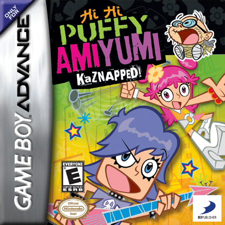 Hi Hi Puffy AmiYumi - Kaznapped! Nintendo Game Boy Advance cover artwork