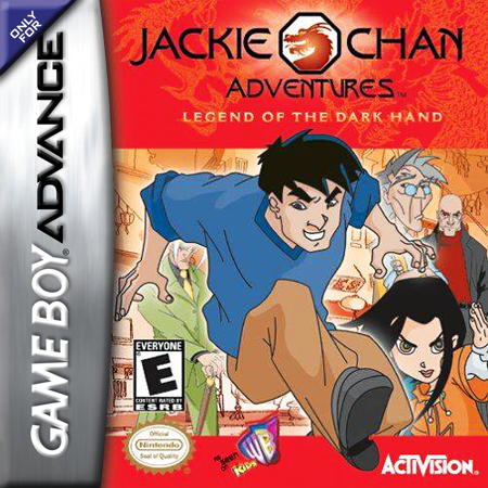Jackie Chan Adventures - Legend of the Darkhand Nintendo Game Boy Advance cover artwork