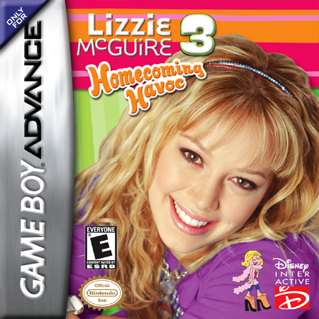 Lizzie McGuire 3 - Homecoming Havoc Nintendo Game Boy Advance cover artwork