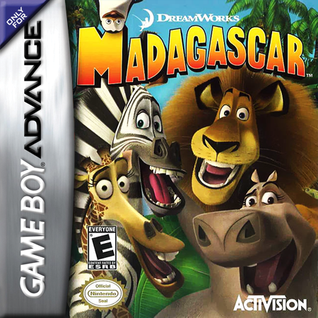 Madagascar Nintendo Game Boy Advance cover artwork