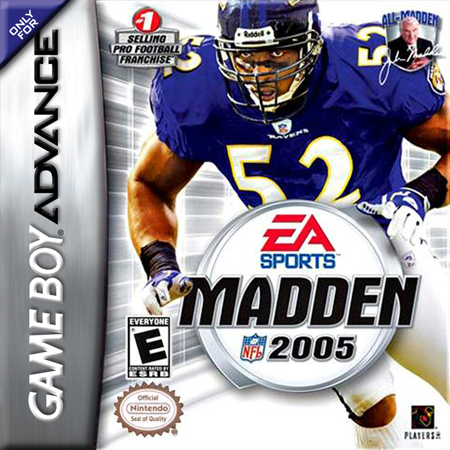 Madden NFL 2005 Nintendo Game Boy Advance cover artwork