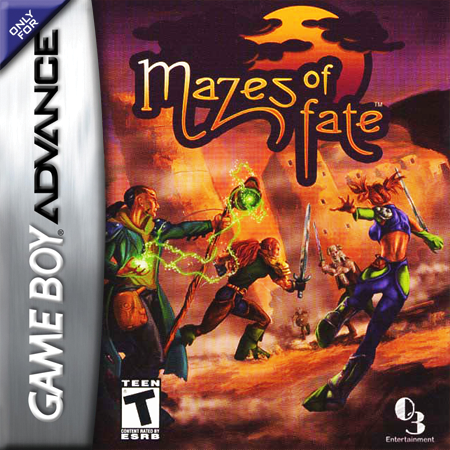 Mazes of Fate Nintendo Game Boy Advance cover artwork