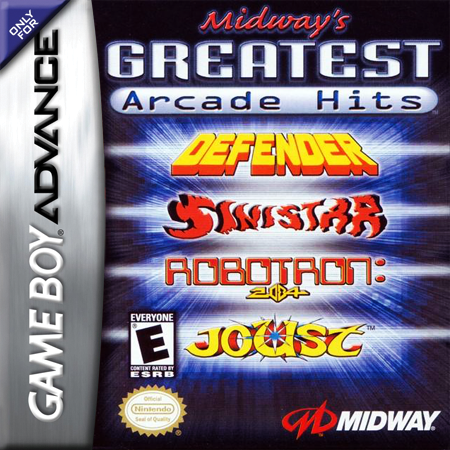 Midway's Greatest Arcade Hits Nintendo Game Boy Advance cover artwork