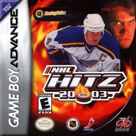 NHL Hitz 20-03 Nintendo Game Boy Advance cover artwork