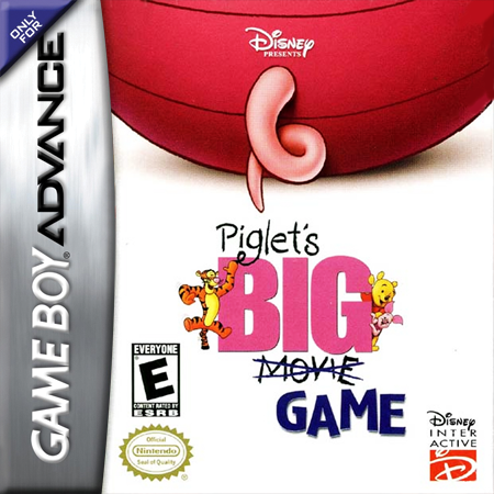 Piglet's Big Game Nintendo Game Boy Advance cover artwork