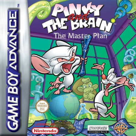 Pinky and the Brain - The Masterplan Nintendo Game Boy Advance cover artwork