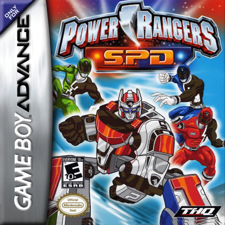 Power Rangers S.P.D. Nintendo Game Boy Advance cover artwork