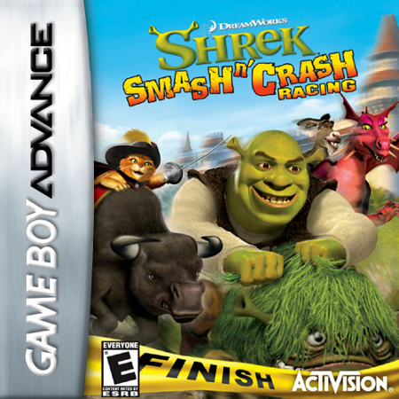 Shrek - Smash n' Crash Racing Nintendo Game Boy Advance cover artwork
