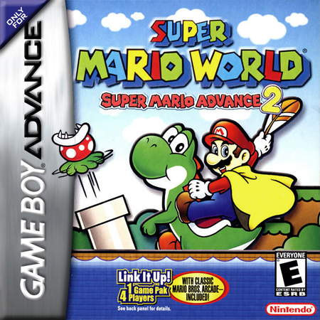 Super Mario Advance 2 - Super Mario World Nintendo Game Boy Advance cover artwork