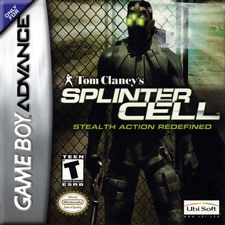 Tom Clancy's Splinter Cell Nintendo Game Boy Advance cover artwork
