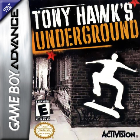 Tony Hawk's Underground Nintendo Game Boy Advance cover artwork