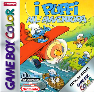 Adventures of the Smurfs, The Nintendo Game Boy Color cover artwork