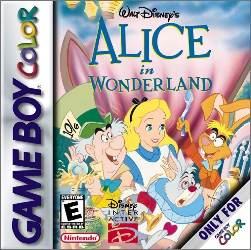 Alice in Wonderland Nintendo Game Boy Color cover artwork