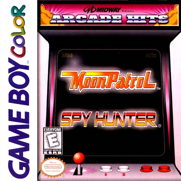 Arcade Hits - Moon Patrol & Spy Hunter Nintendo Game Boy Color cover artwork