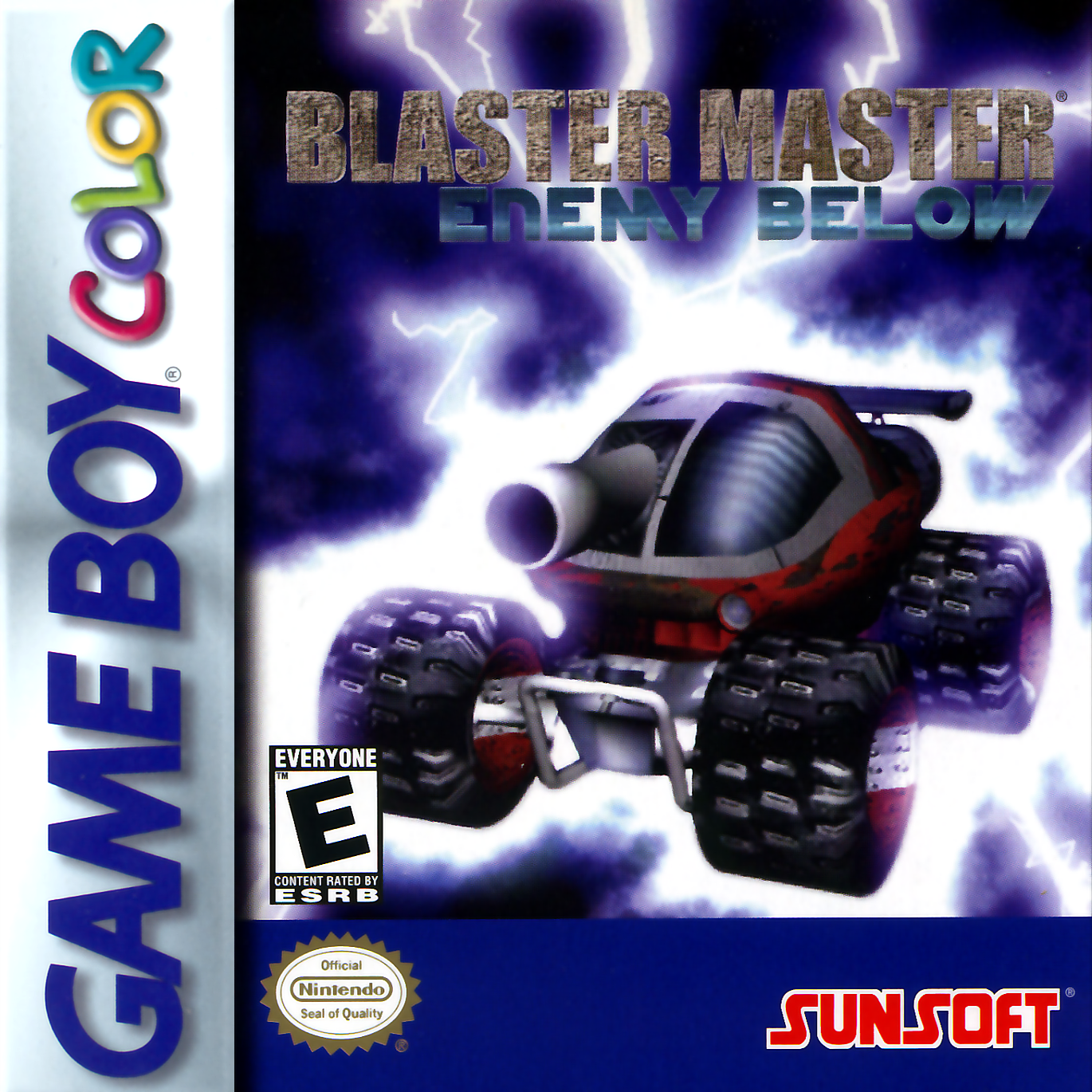 Game boy color online games - Blaster Master Enemy Below Nintendo Game Boy Color Cover Artwork
