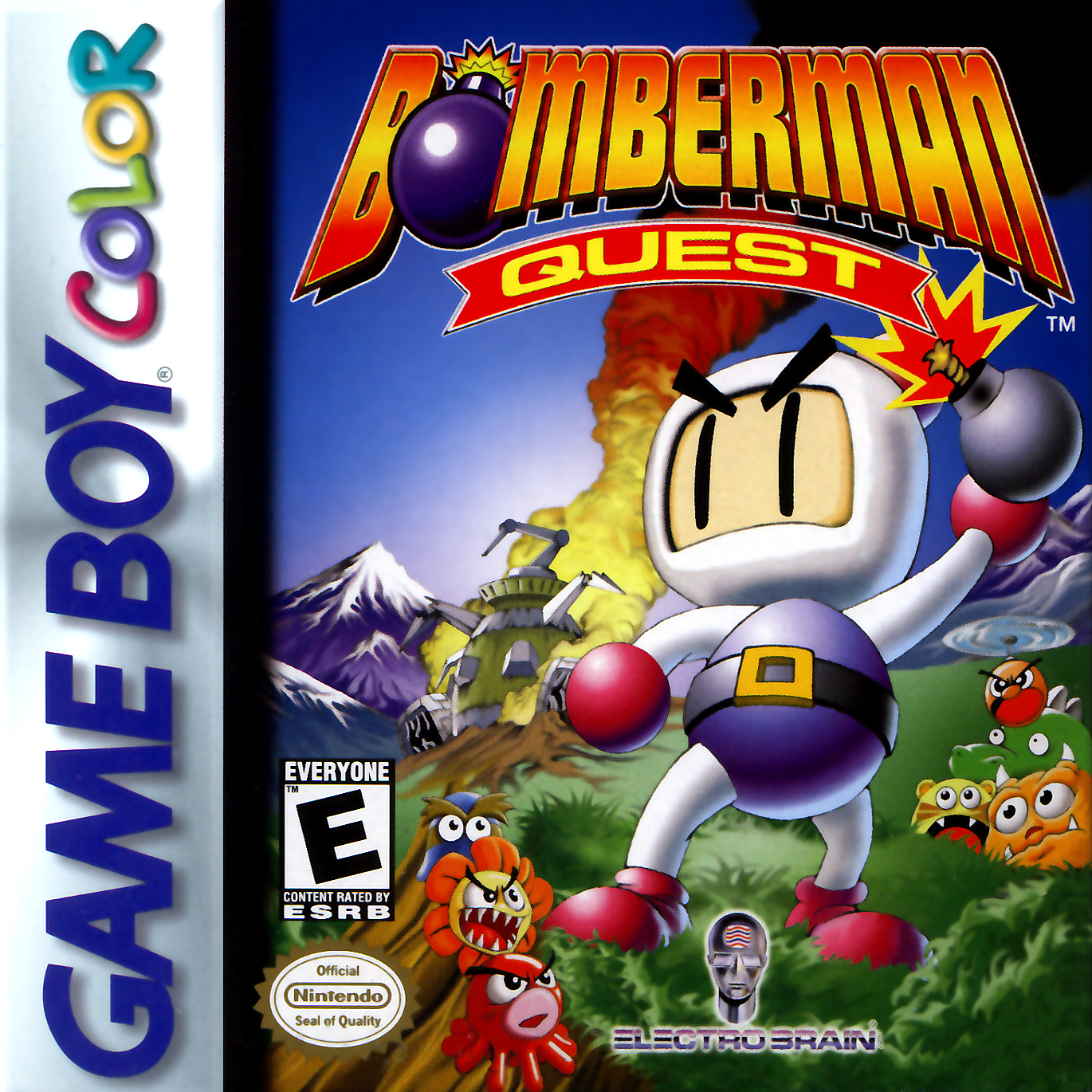 Game boy color online games - Bomberman Quest Nintendo Game Boy Color Cover Artwork