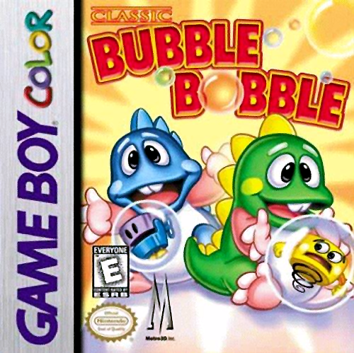 Classic Bubble Bobble Nintendo Game Boy Color cover artwork