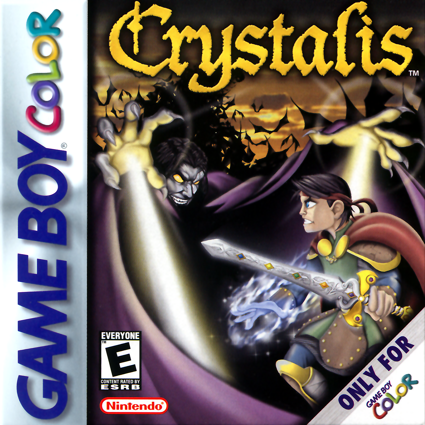 Crystalis Nintendo Game Boy Color cover artwork