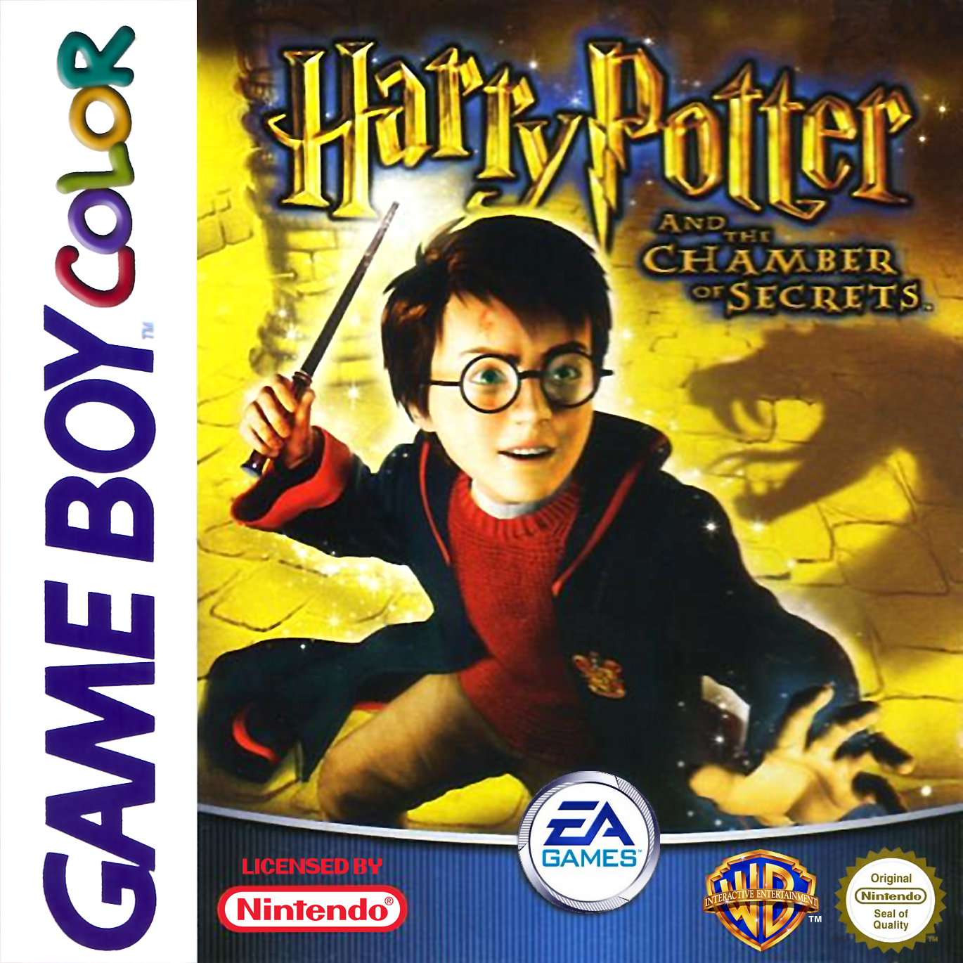 Game boy color online games - Harry Potter And The Chamber Of Secrets Nintendo Game Boy Color Cover Artwork