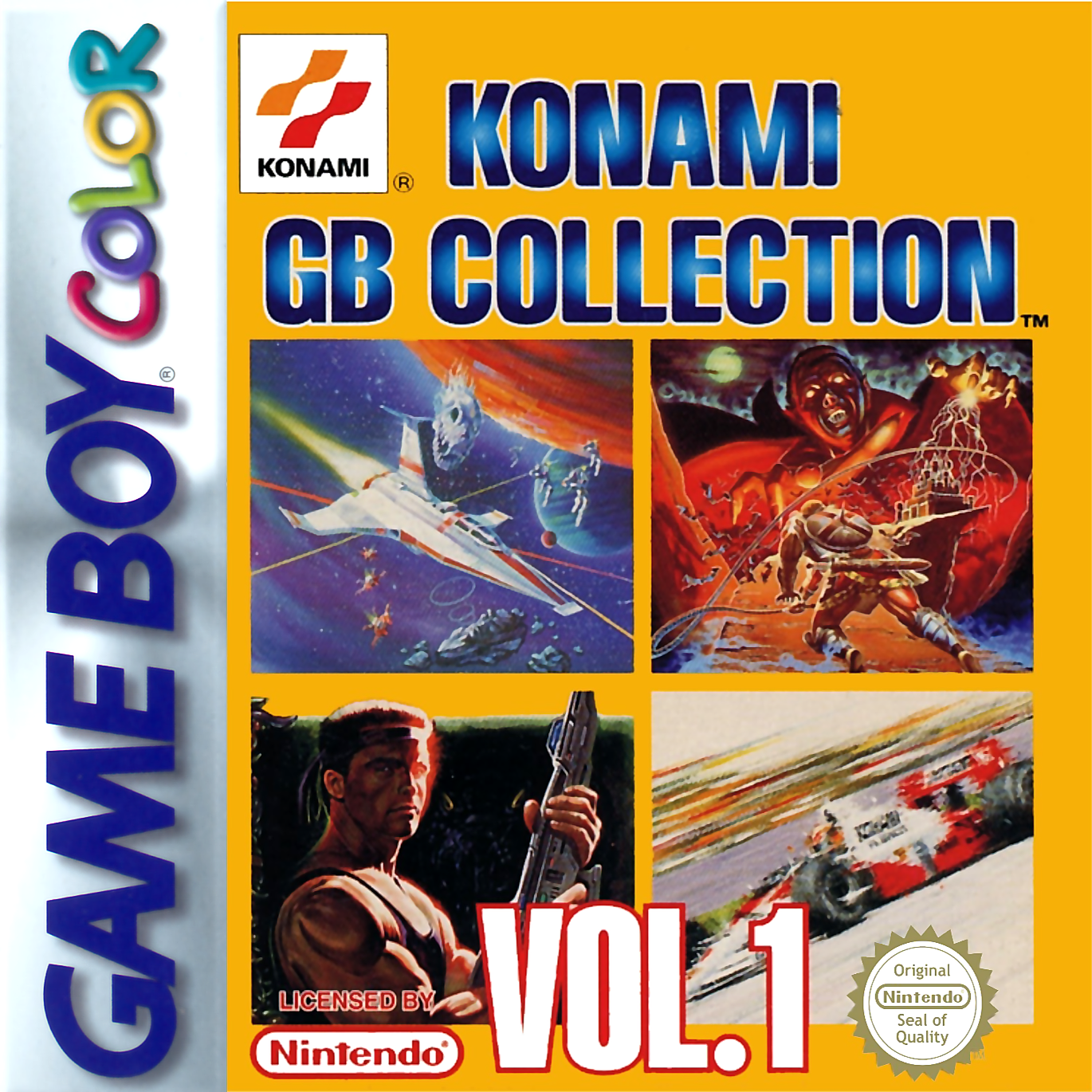 Game boy color online games - Konami Gb Collection Vol 1 Nintendo Game Boy Color Cover Artwork