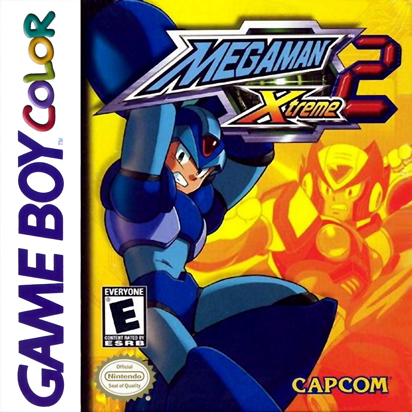 Game boy color online games - Mega Man Xtreme 2 Nintendo Game Boy Color Cover Artwork