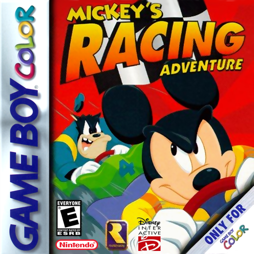 Mickey's Racing Adventure Nintendo Game Boy Color cover artwork