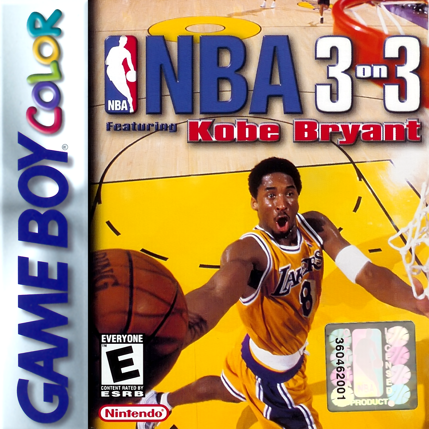 NBA 3 on 3 featuring Kobe Bryant Nintendo Game Boy Color cover artwork