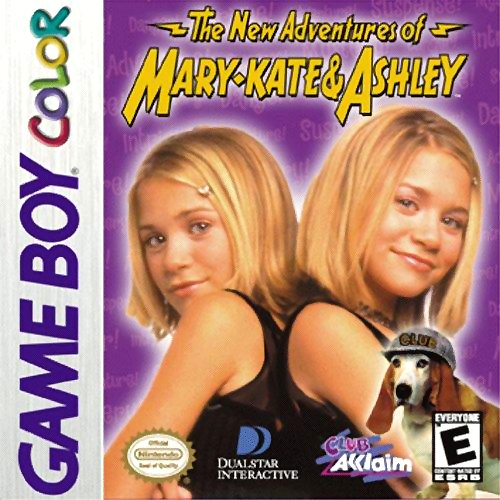 New Adventures of Mary-Kate & Ashley, The Nintendo Game Boy Color cover artwork