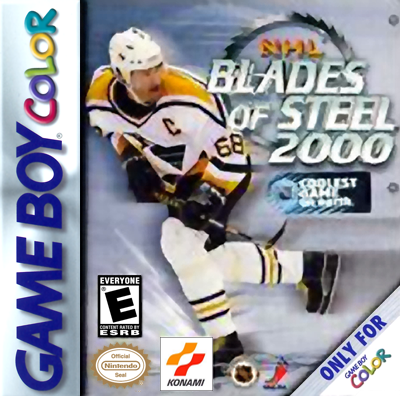NHL Blades of Steel 2000 Nintendo Game Boy Color cover artwork
