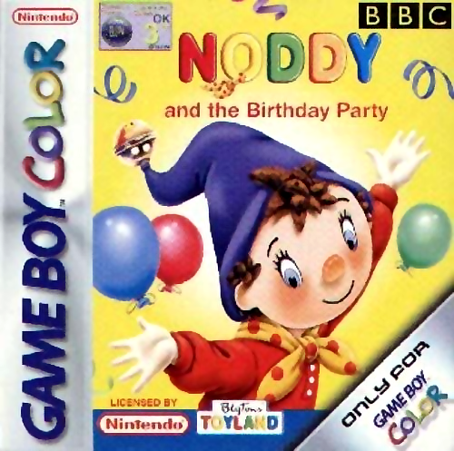 Noddy and the Birthday Party Nintendo Game Boy Color cover artwork