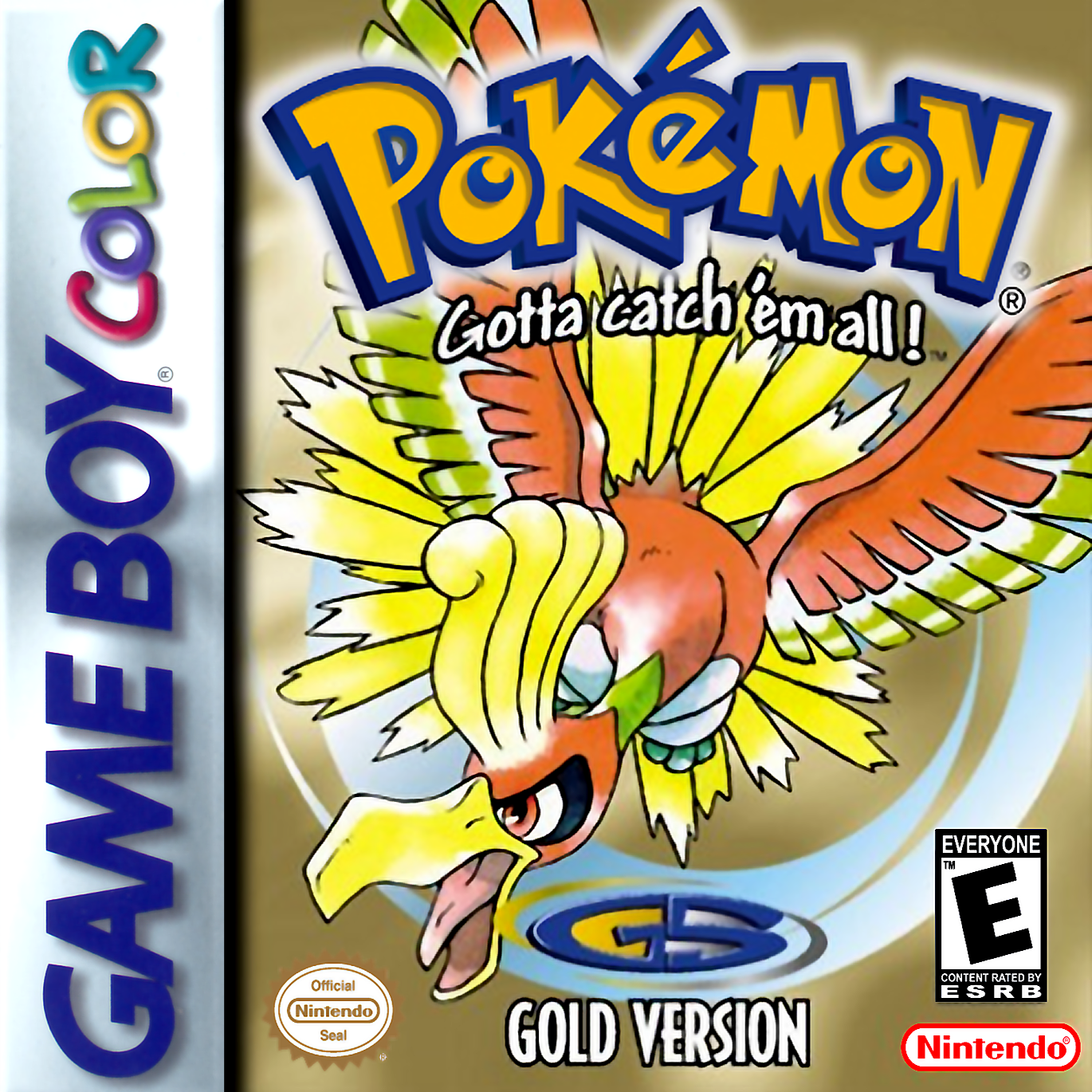 Pokemon - Gold Version Nintendo Game Boy Color cover artwork