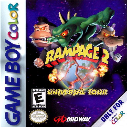 Rampage 2 - Universal Tour Nintendo Game Boy Color cover artwork