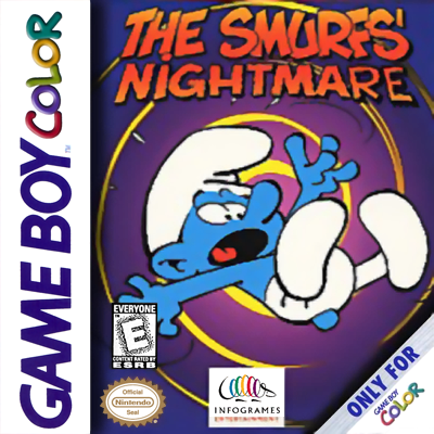 Smurfs Nightmare, The Nintendo Game Boy Color cover artwork