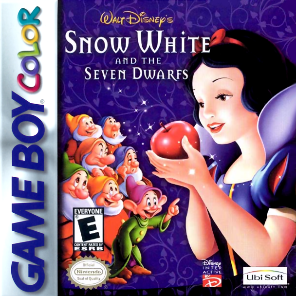 Snow White and the Seven Dwarfs Nintendo Game Boy Color cover artwork