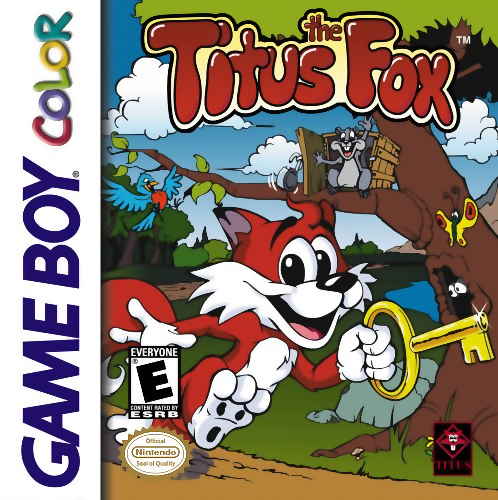 Titus the Fox to Marrakech and Back Nintendo Game Boy Color cover artwork