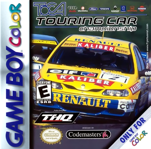 TOCA Touring Car Championship Nintendo Game Boy Color cover artwork