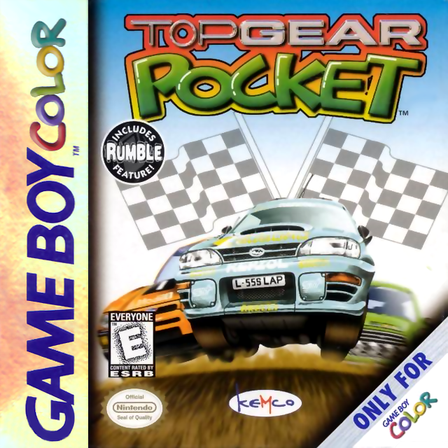 Top Gear Pocket Nintendo Game Boy Color cover artwork