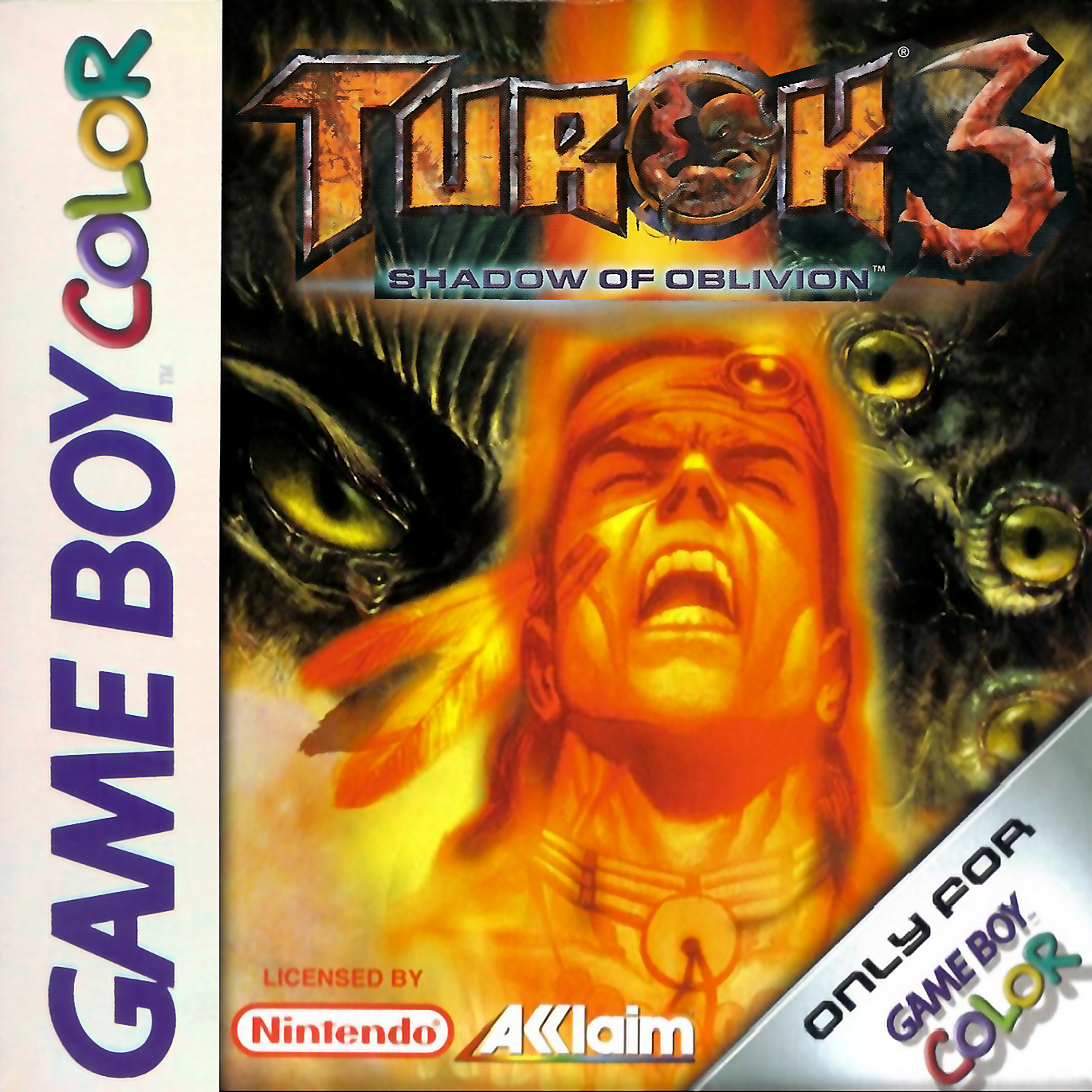 Turok 3 - Shadow of Oblivion Nintendo Game Boy Color cover artwork