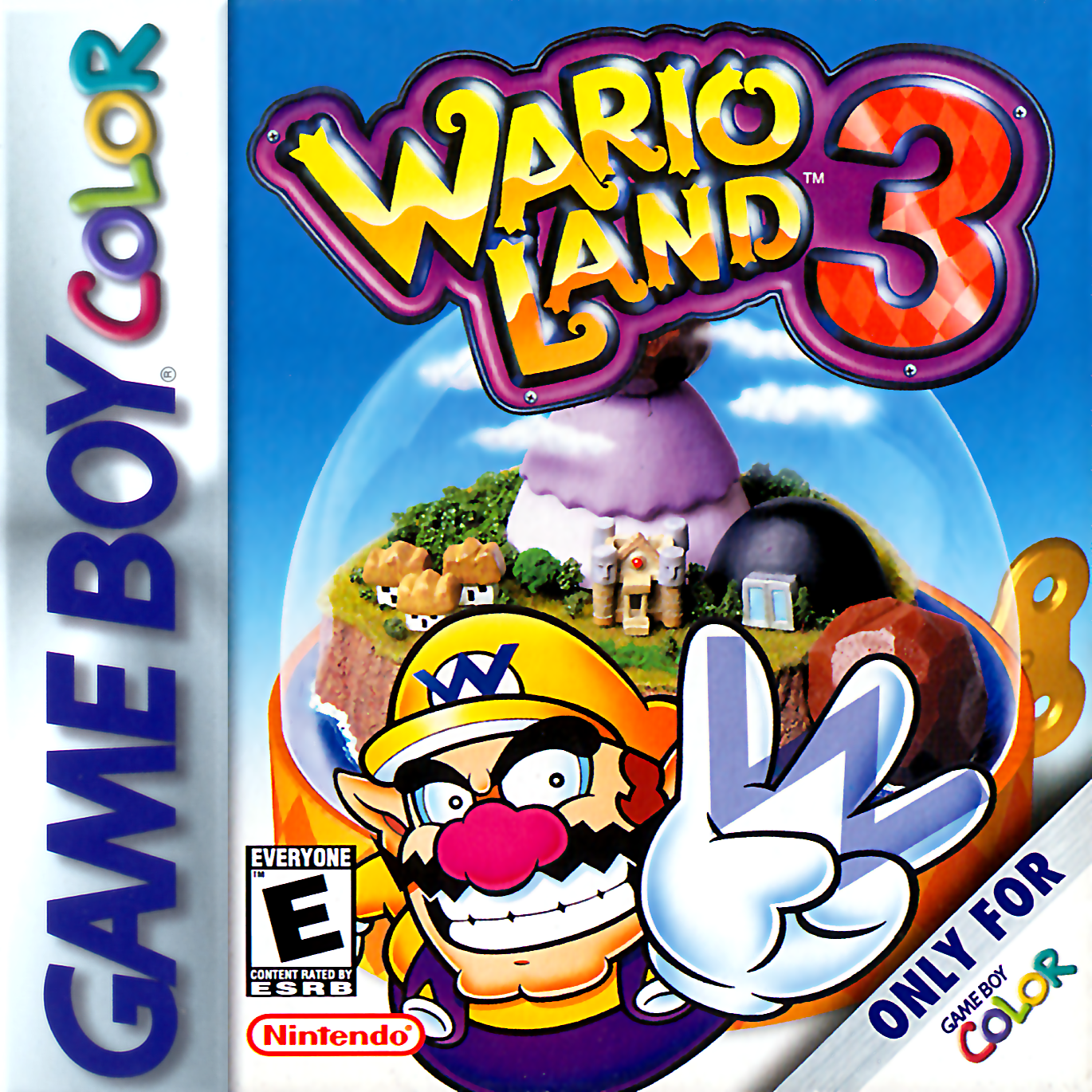 Wario Land 3 Nintendo Game Boy Color cover artwork