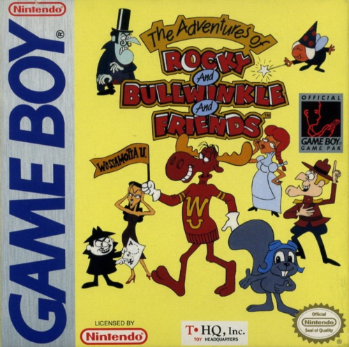 Adventures of Rocky and Bullwinkle and Friends, The Nintendo Game Boy cover artwork