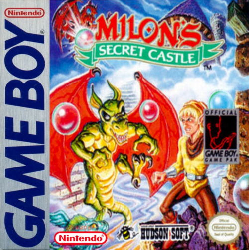Milon's Secret Castle Nintendo Game Boy cover artwork