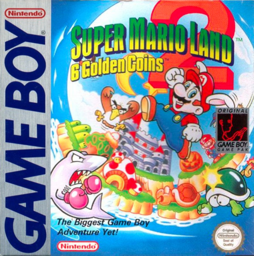 Super Mario Land 2 - 6 Golden Coins Nintendo Game Boy cover artwork