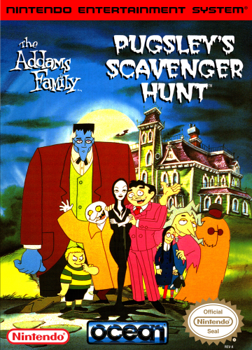 Addams Family, The - Pugsley's Scavenger Hunt Nintendo NES cover artwork