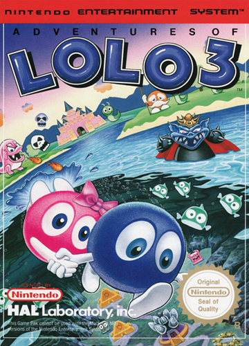 Adventures of Lolo 3 Nintendo NES cover artwork
